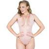 Lovehoney Late Night Liaison Blush Pink Crotchless Lace Body