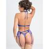 Lovehoney Passion Flower Purple Halterneck Bra Set