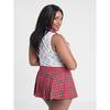 Lovehoney Fantasy Plus Size Red Tartan Skirt Set
