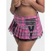 Lovehoney Fantasy Plus Size Plaid Zipper Detail Mini Skirt