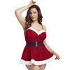 Miss Santa Plus Size Red Velvet Dress