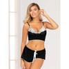 Seven 'til Midnight Black and White Bralette and Shorts Set