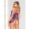 Seven 'til Midnight Purple Sheer Babydoll Set