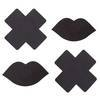 Dreamgirl Black Cross and Lips Nipple Pasties (2 Pairs)