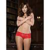 Dreamgirl Red Lace Bow Detail Crotchless Knickers