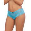 Dreamgirl Turquoise Lace Bow Detail Crotchless Knickers