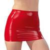 Late X Red Latex Mini Skirt