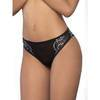 Seven 'til Midnight Black Criss-Cross Lace and Mesh Knickers