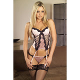 Wild Designs Soft Bustier Suspender Set