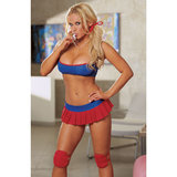 Dreamgirl Red Diamond Head Cheerleader Set
