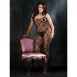 Leg Avenue Plus Size Floral Crotchless Bodystocking