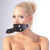 Zado Leather Mouth Gag 5.5 Inch Dildo Harness