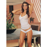 Dreamgirl White Diamond Sheer Camisole Set