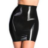 Rubber Girl Retro High Waisted Latex Mini Skirt