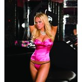 Dreamgirl Reversible Satin Diamante Bustier with Gloves