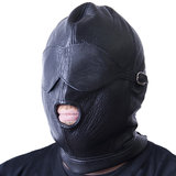 Bondage Boutique Luxury Leather Hood with Blindfold