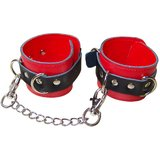 Leather Wrist Cuff Restraints with Metal Buckles and D-Rings, 3 for 2 on Bondage Boutique at CockLocker!