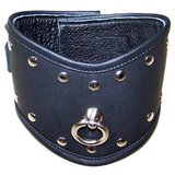 Bondage Boutique Xtreme Wide Leather Posture Collar with O-Ring
