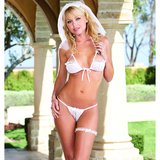 Dreamgirl Red Diamond Virgin 4-Piece Bridal Bra and Thong Set