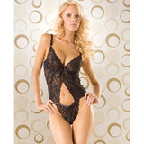 Seven Til Midnight All-In-One Lace Body with Cut-Out