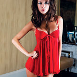 iCollection Lingerie Sheer Ruffle Babydoll and Thong Set