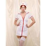 Fever Sexy Nurse Zip Front Dress & Hat Set