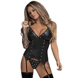 Exposed Lust Basque and Garters Set