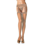 Leg Avenue Sheer Hold Up Tights with Lace Garter Belt