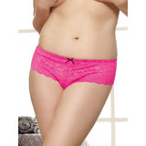 Dreamgirl Plus Size Floral Lace Crotchless Panties