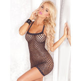 Pink Lipstick Shimmering Racer-Style Mini Dress