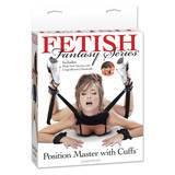 Contrainte de position à menottes et chevillères par Fetish Fantasy