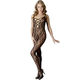 Mandy Mystery Lace Crotchless Bodystocking