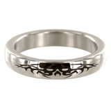 Stainless Steel 1.87 Inch Tribal Design Cock Ring