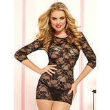 Seven 'til Midnight The Lace Embrace Stretch Lace Mini Dress