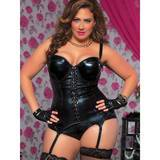 Seven Til Midnight Plus Size Indecent Desires Wet Look Bustier