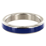 Stainless Steel 2 Inch Cock Ring with Black Band