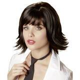 Black Layered Bob Wig with Fringe