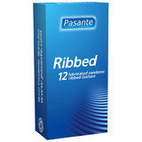 Pasante Ribbed Condoms (12 Pack)