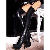 7heaven Wet Look Suspender Stockings