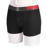 RodeoH Strap On Harness Button Fly Boxer Shorts with Vibe Pocket