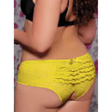 Seven 'til Midnight Plus Size Crotchless Lace Shorts