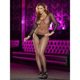 Lapdance Plus Size Crotchless Fishnet Bodystocking