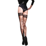 Gabriella Vera Lace Top Floral Patterned Thigh Highs