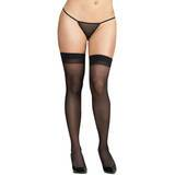 Dreamgirl Plus Size Sheer Stockings with Back Seams