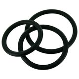 Manbound Rubber Cock Ring Set (3 Pack)