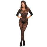 Bodystocking de Encaje Negro Manga 3/4 Lovehoney