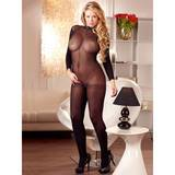 Mandy Mystery Plus Size transparenter Catsuit ouvert