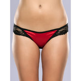Lovehoney Spoil Me Satin Cage Brief Red