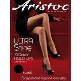 Aristoc Ultra Shine 10 Denier Black Lace Top Hold Ups