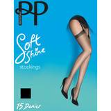 Pretty Polly Soft Shine 15 Denier Barely Black Stockings